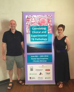 The co-organizers of the TBEmpúries Conference: Pr. PJ Cardona and Dr. Cris Vilaplana